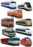 поезд иконы шаржа иллюстрация штока