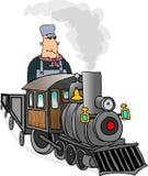 поезд инженера Стоковые Фото