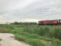 Поезд и высокорослое стекло Стоковые Фотографии RF
