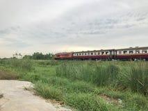 Поезд и высокорослое стекло Стоковые Фото