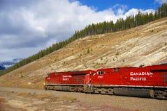поезд канадской перевозки Тихий океан Стоковые Изображения RF