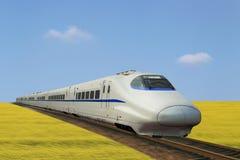 Поезд Китая высокоскоростной стоковая фотография rf