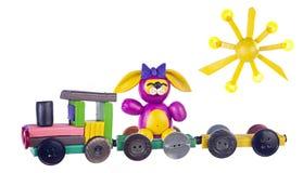 поезд кролика пластилина стоковые фотографии rf