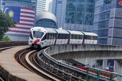 Поезд Малайзии LRT стоковые фотографии rf
