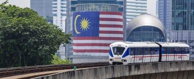 Поезд Малайзии LRT стоковая фотография rf
