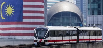 Поезд Малайзии LRT стоковые изображения rf