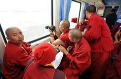 поезд монахов стоковое фото rf
