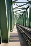 поезд моста Стоковое Изображение