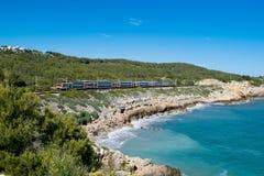 Поезд на береговой линии Стоковое фото RF