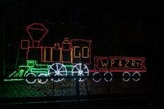 Поезд неонового света стоковая фотография rf