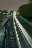 поезд ночи Стоковое фото RF