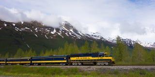 Поезд отклонения в Аляске Стоковое Изображение RF