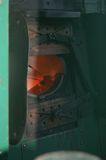 поезд пара места пожара Стоковая Фотография