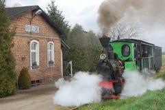 Поезд пара узкой колеи железнодорожный Стоковое фото RF