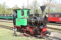 Поезд пара узкой колеи железнодорожный Стоковые Фотографии RF