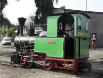 Поезд пара узкой колеи железнодорожный Стоковые Фото