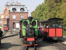 Поезд пара узкой колеи железнодорожный Стоковая Фотография