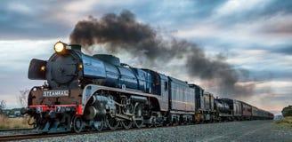 Поезд пара, Clarkefield, Виктория, Австралия, апрель 2017 стоковые изображения rf