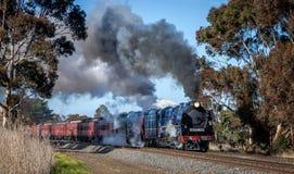 Поезд пара, Clarkefield, Виктория, Австралия, апрель 2017 стоковое изображение rf