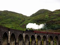 Поезд пара Jacobite Стоковые Фото