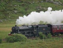Поезд пара Jacobite стоковое изображение