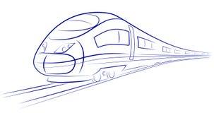 Поезд пассажира высокоскоростной Стоковые Изображения