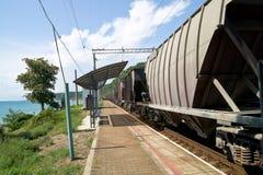 поезд платформы Стоковые Фотографии RF