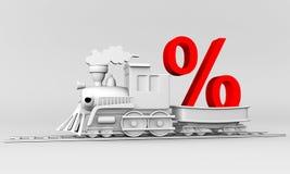 поезд рабатов Стоковая Фотография