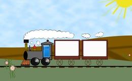 поезд рекламы иллюстрация вектора