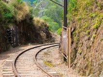 Поезд рельса Стоковое Изображение