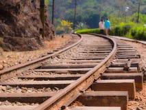 Поезд рельса стоковые изображения rf
