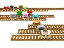 поезд рельсов дня рождения счастливый Стоковые Изображения RF