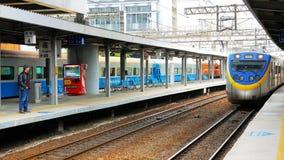 Поезд серии EMU800 Тайваня железнодорожный Стоковые Изображения RF
