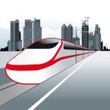 поезд скорости иллюстрация вектора