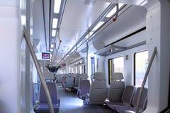 поезд скорости iterior стоковое изображение