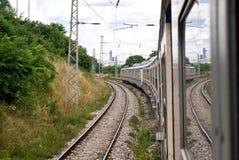 поезд следа железной дороги Стоковое Изображение RF