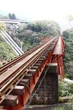 поезд следа моста Стоковые Фотографии RF