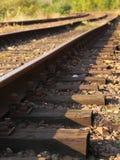Поезд следов дороги рельса стальной Стоковые Изображения RF