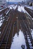 поезд следов железной дороги Стоковое фото RF