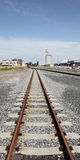 поезд следов перспективы Стоковая Фотография RF