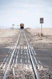 поезд следов пустыни Стоковые Фото