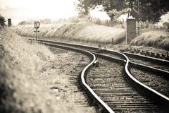 поезд следов Стоковые Изображения RF