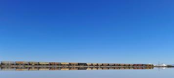 поезд соли озера города Стоковая Фотография