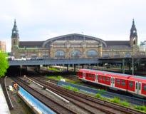 поезд станции Германии hamburg стоковое изображение rf