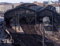 поезд станции города berlin Стоковая Фотография RF
