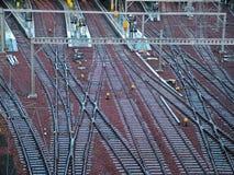 поезд станции железных дорог Стоковые Фото