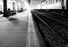 поезд станции Стоковая Фотография