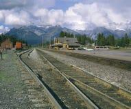 поезд станции banff Стоковое Изображение