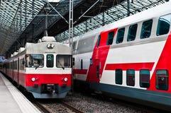 поезд станции helsinki Стоковое Изображение RF