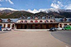 поезд станции mont chamonix blanc Стоковая Фотография